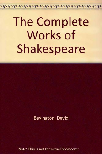 Complete Works of Shakespeare 4th edition cover