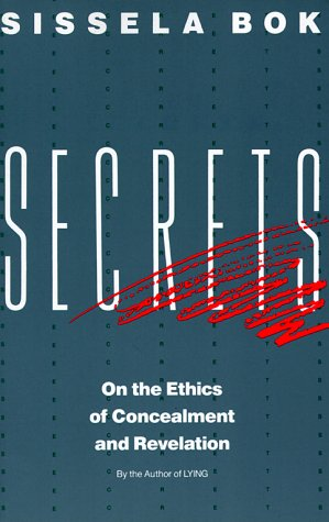 Secrets On the Ethics of Concealment and Revelation  1989 edition cover