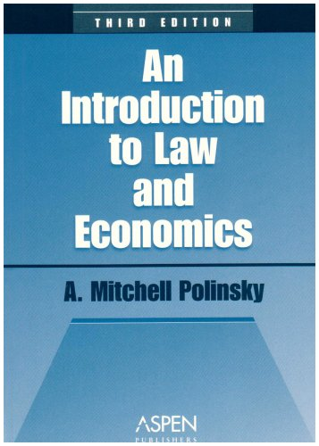Introduction to Law and Economics  3rd 2003 (Student Manual, Study Guide, etc.) 9780735534735 Front Cover