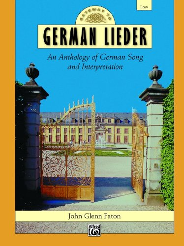 Gateway to German Lieder Low Voice  2000 edition cover