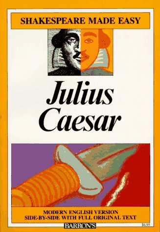 Julius Caesar Modern English Version Side-by-Side with Full Original Text  1985 edition cover