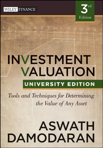Investment Valuation Tools and Techniques for Determining the Value of Any Asset 3rd 2012 edition cover