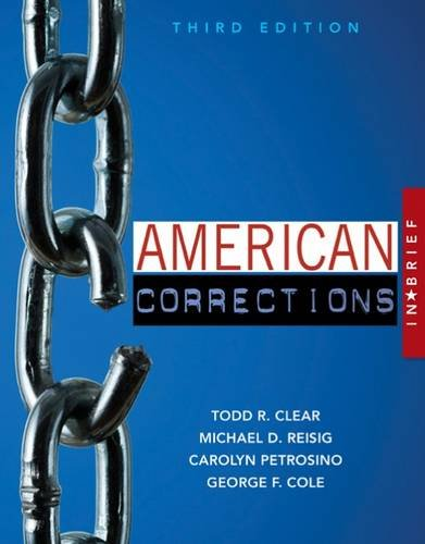 American Corrections in Brief:   2016 9781305633735 Front Cover