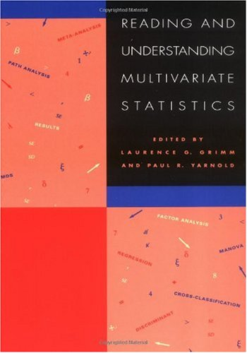 Reading and Understanding Multivariate Statistics  N/A edition cover