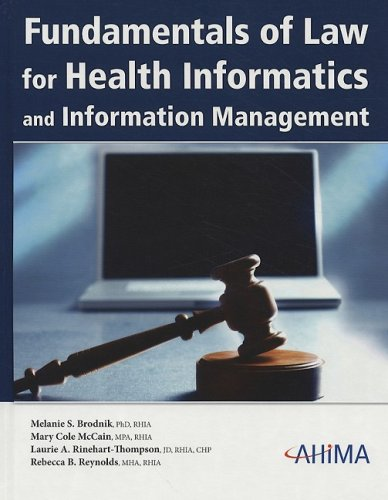 Fundamentals of Law for Health Informatics and Information Management  N/A edition cover