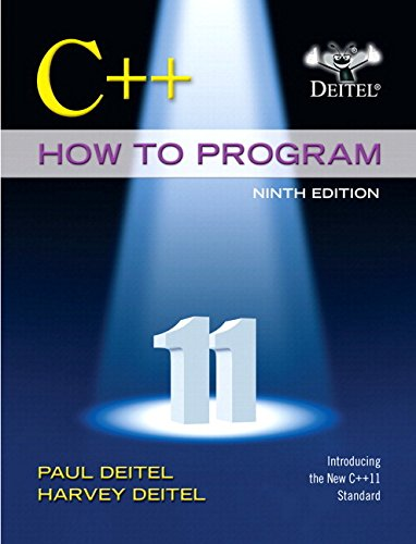 C++ How to Program  9th 2014 edition cover