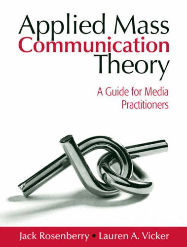 Applied Mass Communication Theory A Guide for Media Practitioners  2008 edition cover