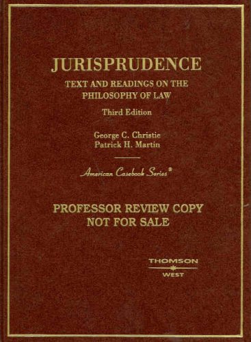 Jurisprudence, Text and Readings on the Philosophy of Law  3rd 2008 (Revised) edition cover