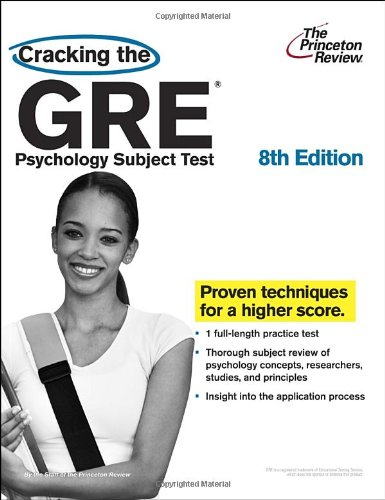Cracking the GRE Psychology Subject Test  8th edition cover