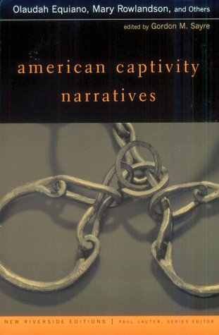American Captivity Narratives   2000 edition cover