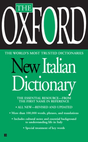 Oxford New Italian Dictionary   2007 edition cover