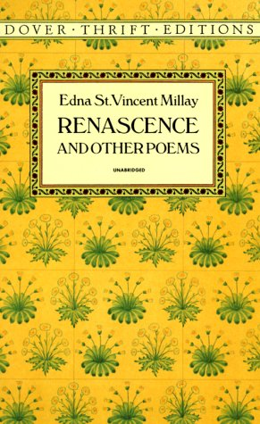 Renascence and Other Poems  Reprint edition cover