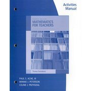 Mathematics for Elementary Teachers  4th 2010 9780495561736 Front Cover