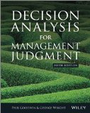 Decision Analysis for Management Judgement  5th 2014 edition cover
