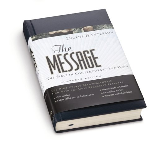 Message The Bible in Contemporary Language Numbered edition cover