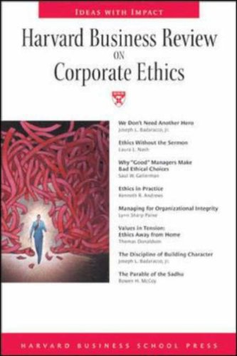 Harvard Business Review on Corporate Ethics   2003 edition cover