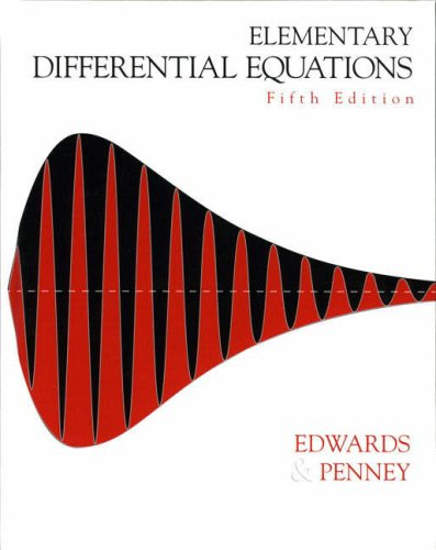 Elementary Differential Equations  5th 2004 edition cover