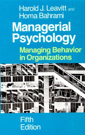 Managerial Psychology Managing Behavior in Organizations 5th 1988 edition cover