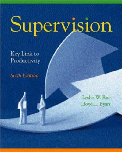 Supervision Key Link to Productivity 6th 1999 9780256271737 Front Cover
