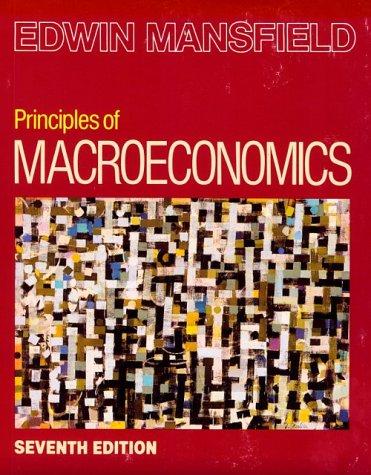 Principles of Macroeconomics  7th 1992 edition cover