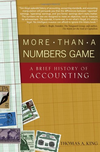 More Than a Numbers Game A Brief History of Accounting  2006 edition cover