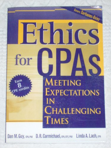 ETHICS FOR CPAS >CUSTOM< N/A edition cover