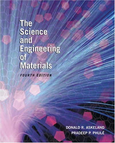 Science and Engineering of Materials  4th 2003 edition cover