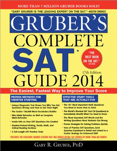 Gruber's Complete SAT Guide 2014  17th 2013 (Revised) edition cover