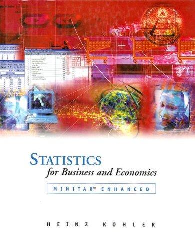 Statistics for Business and Economics Minitab Enhanced  2002 edition cover