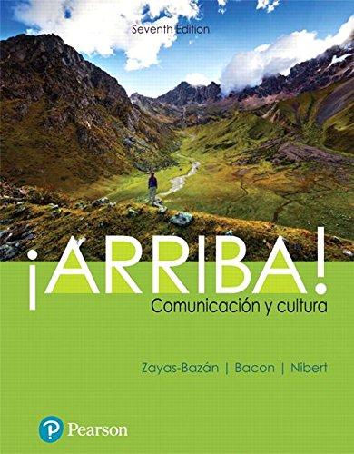 ¡Arriba!: Comunicación y cultura  2018 9780134813738 Front Cover