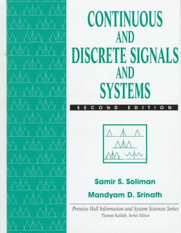 Continuous and Discrete Signals and Systems  2nd 1998 edition cover