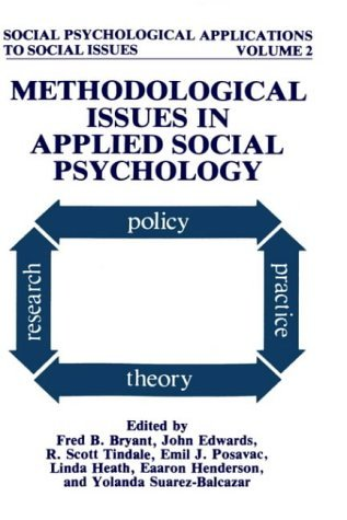 Methodological Issues in Applied Social Psychology   1992 9780306441738 Front Cover