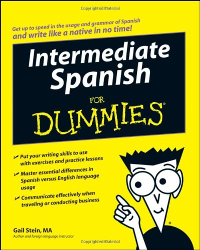 Intermediate Spanish for Dummies   2008 edition cover