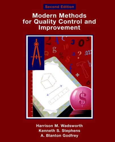Modern Methods for Quality Control and Improvement  2nd 2002 (Revised) edition cover