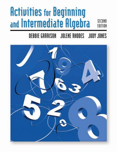 Activities for Beginning and Intermediate Algebra  2nd 2005 (Revised) 9780534998738 Front Cover