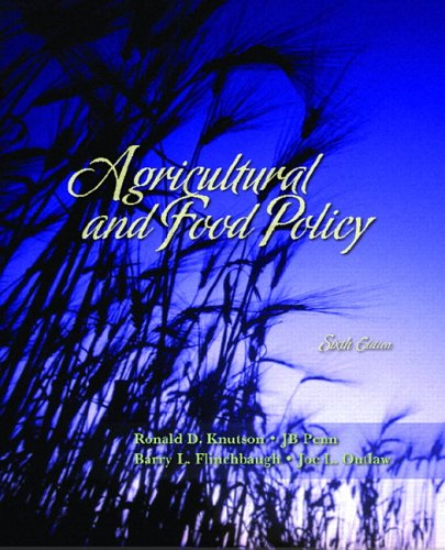 Agricultural and Food Policy  6th 2007 (Revised) edition cover