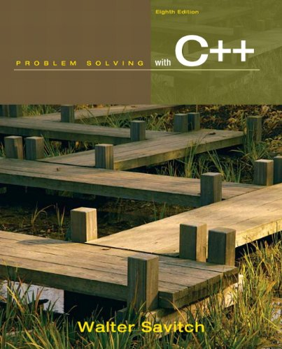 Problem Solving with C++  8th 2012 edition cover