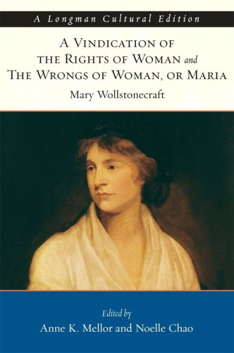 Vindication of the Rights of Woman and the Wrongs of Woman, or Maria   2007 edition cover