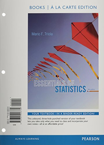Essentials of Statistics: Books a La Carte Edition  2014 edition cover