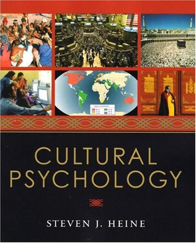 Cultural Psychology   2008 edition cover