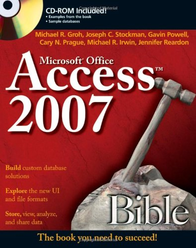 Access 2007 Bible   2007 edition cover