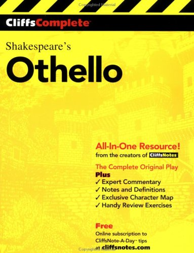 CliffsComplete Othello  3rd 2000 edition cover