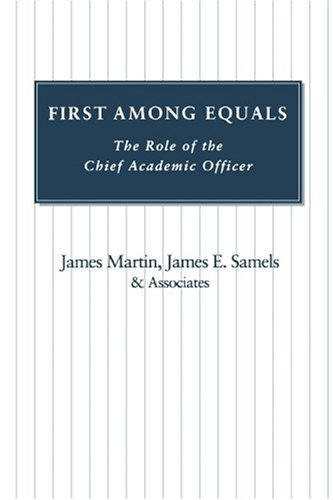 First among Equals The Role of the Chief Academic Officer N/A edition cover