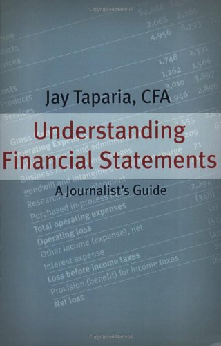 Understanding Financial Statements A Journalist's Guide  2004 edition cover