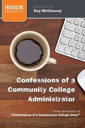Confessions of a Community College Administrator   2013 edition cover