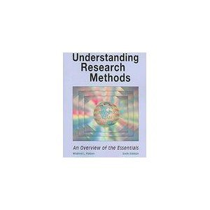 Understanding Research Methods-6th Ed An Overview of the Essentials 6th 2007 (Revised) 9781884585739 Front Cover