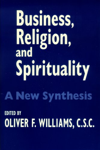 Business, Religion, and Spirituality A New Synthesis  2003 edition cover