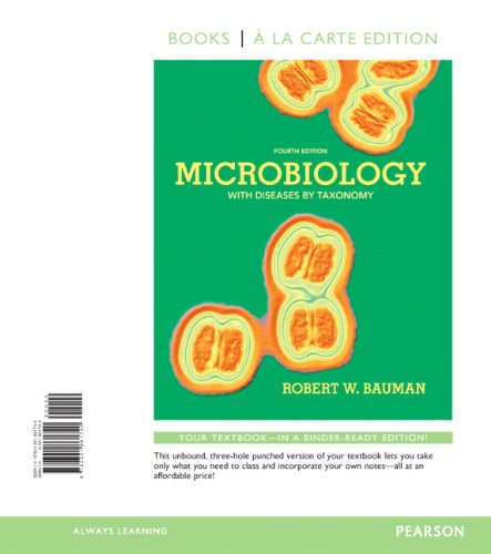 Microbiology with Diseases by Taxonomy, Books a la Carte Edition  4th 2014 edition cover