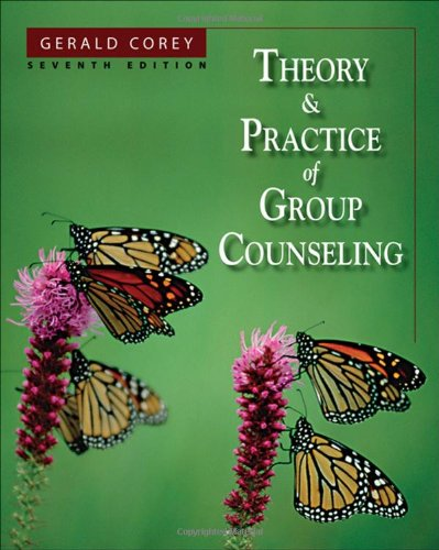 Theory and Practice of Group Counseling  7th 2008 9780534641740 Front Cover