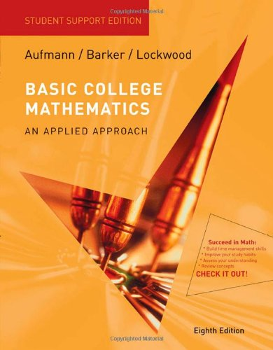 Basic College Mathematics An Applied Approach 8th 2009 9780547016740 Front Cover